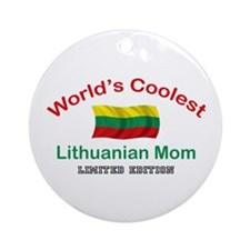 Coolest Lithuanian Mom Ornament (Round)