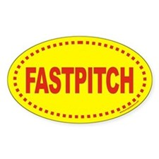 FASTPITCH Softball Euro Oval Decal