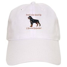 Proudly Owned By A Rescued Rottie Baseball Cap