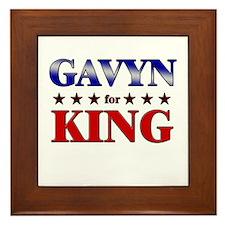GAVYN for king Framed Tile