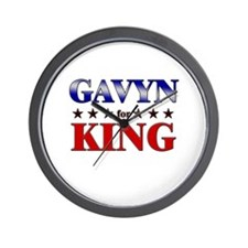 GAVYN for king Wall Clock