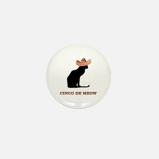 Cinco de Meow Mini Button