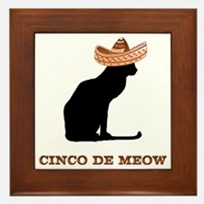 Cinco de Meow Framed Tile
