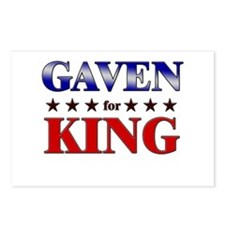 GAVEN for king Postcards (Package of 8)