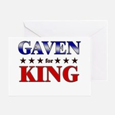 GAVEN for king Greeting Card