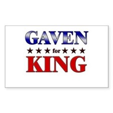 GAVEN for king Rectangle Decal