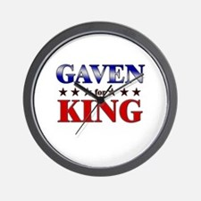 GAVEN for king Wall Clock