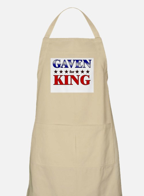 GAVEN for king BBQ Apron