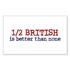Half British is Better Than none Decal