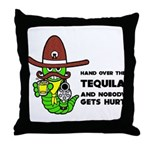 Funny Tequila Throw Pillow