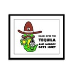 Funny Tequila Framed Panel Print