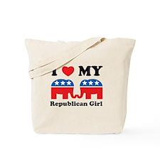 I Heart My Republican Girl Tote Bag