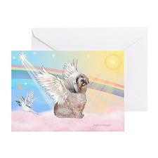 Clouds / Lhasa Apso Greeting Card
