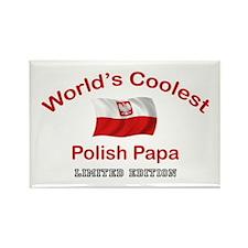 Coolest Polish Papa Rectangle Magnet