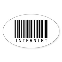 Internist Barcode Oval Decal