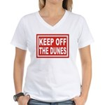 KEEP OFF THE DUNES Women's V-Neck T-Shirt