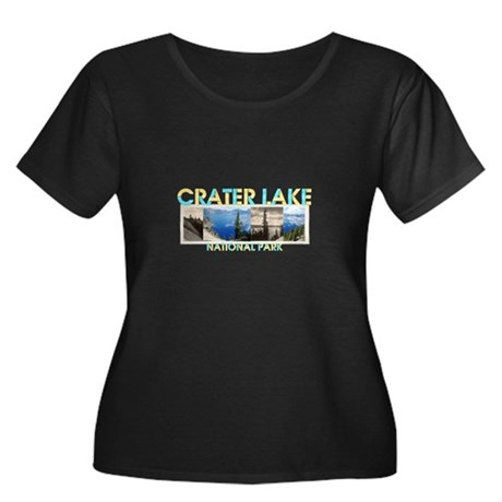 Crater L Women's Plus Size Scoop Neck Dark T-Shirt