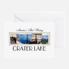 Crater Lake Americasbesthistory.com Greeting Card