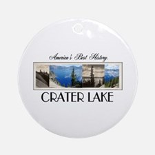 Crater Lake Americasbesthistory.c Ornament (Round)