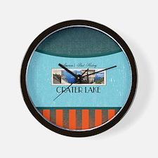 Crater Lake Americasbesthistory.com Wall Clock