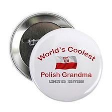 """Coolest Polish Grandma 2.25"""" Button"""