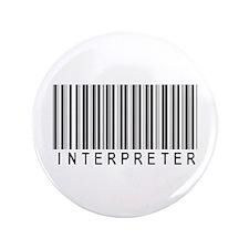 """Interpreter Barcode 3.5"""" Button (100 pack)"""