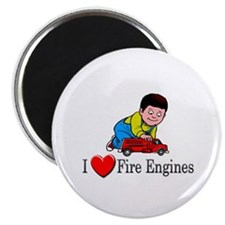 """I Love Fire Engines 2.25"""" Magnet (10 pack)"""