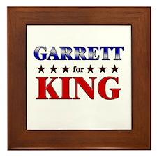 GARRETT for king Framed Tile