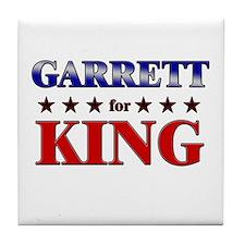 GARRETT for king Tile Coaster