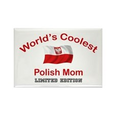 Coolest Polish Mom Rectangle Magnet