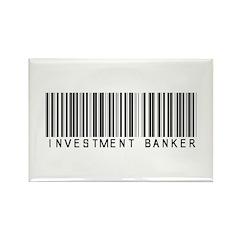 Investment Banker Barcode Rectangle Magnet