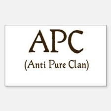 APC (anti pure clan) Rectangle Decal