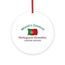 Coolest Portuguese Grandma Ornament (Round)
