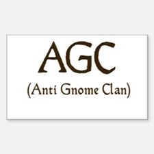 AGC (anti gnome clan) Rectangle Decal