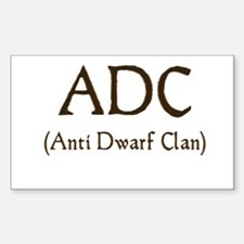 ADC (anti dawrf clan) Rectangle Decal