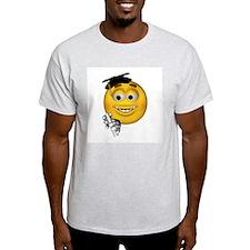 Graduation Smiley Ash Grey T-Shirt
