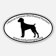 ROCKY MTN GSP RESCUE Custom Oval Decal