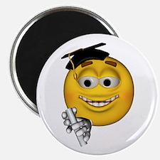 Graduation Smiley Magnet