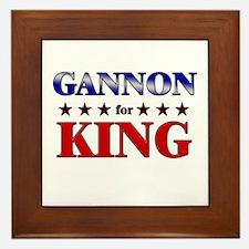 GANNON for king Framed Tile