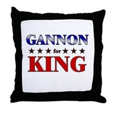 GANNON for king Throw Pillow