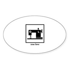 Sewing Machine - True Love Oval Decal