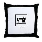 Sewing Machine - True Love Throw Pillow