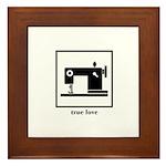 Sewing Machine - True Love Framed Tile