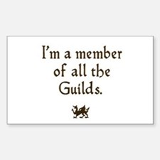 im a member of the guilds Rectangle Decal