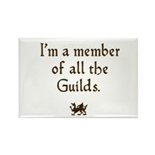 im a member of the guilds Rectangle Magnet