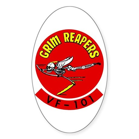VF 101 Grim Reapers Oval Sticker