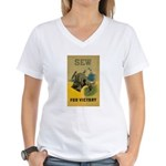 Sew For Victory - War Poster Women's V-Neck T-Shir