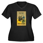 Sew For Victory - War Poster Women's Plus Size V-N