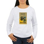 Sew For Victory - War Poster Women's Long Sleeve T