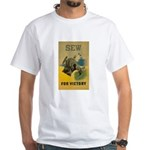 Sew For Victory - War Poster White T-Shirt